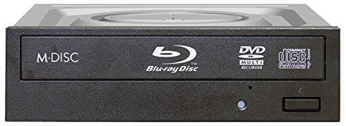 LG WH16NS48 16x Blu-ray Burner BD-RE/16x DVDRW DL SATA Drive w/M-DISC Support (Black) (Certified Refurbished) by LG