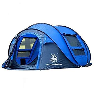 RT One Size Blue Easy Pop-Up 4-Person Tent: Garden & Outdoor