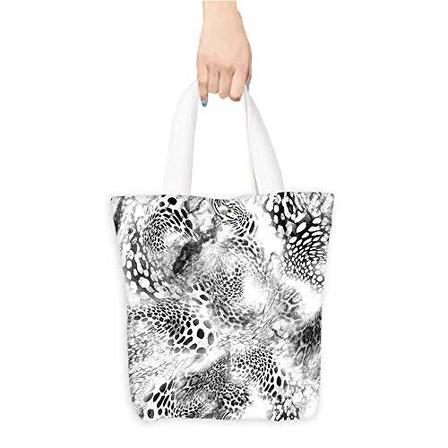 Custom Shoulder Bagstexture print fabri stripes leopar for backgroun fabric Birthday Present Gift W16.5 x H14 x D7 -