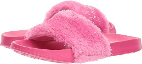 Skechers Kids Girl's Sunny Slides - Furry Brights (Little Kid/Big Kid) Hot Pink 1 M US Little Kid -