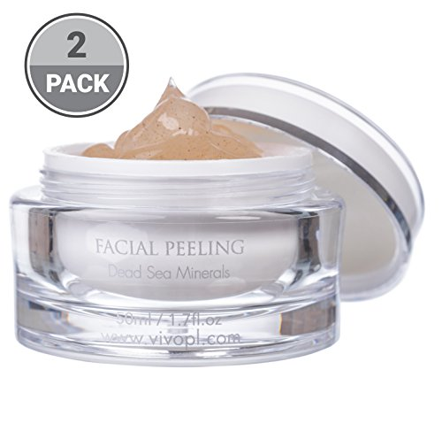 Vivo Per Lei Facial Peeling Gel |Face Peel Containing Dead Sea Minerals And Nut Shell Powder |Exfoliating Gel And Blackhead Remover |Get Your Mojo Skin With This Facial Peel | (Pack of 2)