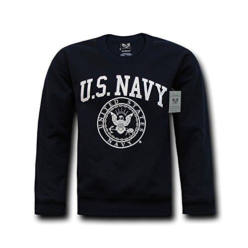 Rapiddominance Navy Crewneck Sweatshirt, Navy, Large ()