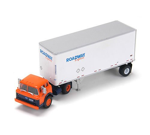 Athearn HO Scale RTR Ford C w/28' Smooth Trailer, Roadway/Expres ()