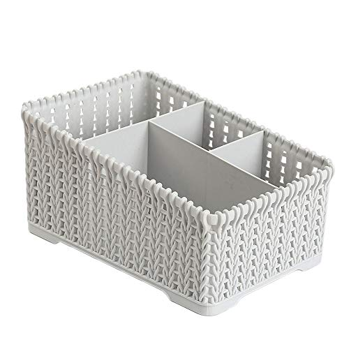 - Nazaka Storage Basket - 1 Piece Stylish Office Kitchen top Imitation Plastic Storae Baskets Cosmetic Make ups A75