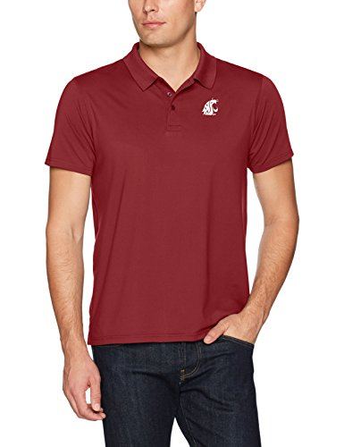 NCAA Washington State Cougars Men's Ots Sueded Short sleeve Polo Shirt, X-Large, Cardinal