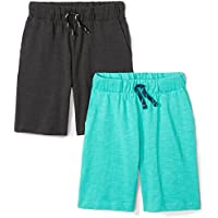 Spotted Zebra Boys' 2-Pack Jersey Knit Shorts