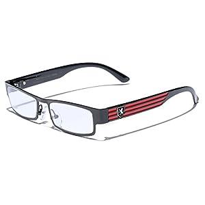 Rectangular Frame Women's Men's Designer Sunglasses Clear Lens RX Optical Eyeglasses