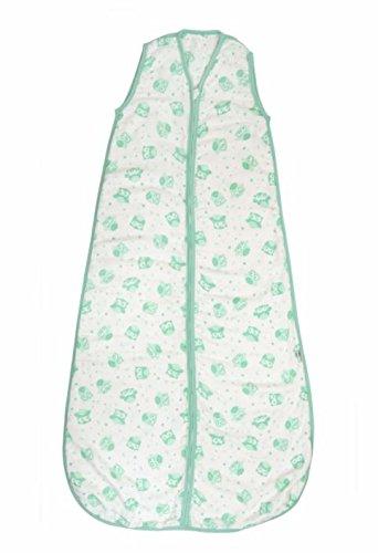Slumbersac Saco de dormir de verano 0.5 Tog – Muslin Mint Owl – Various Sizes blanco