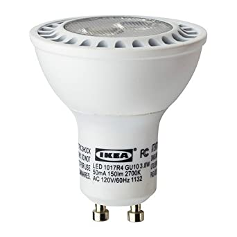 ikea ledare gu10 150 lumen 38 watts small led light bulb warm white - Led Lampen Lumen