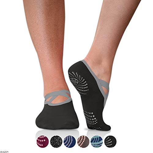 Gaiam Grippy Barre Socks for Extra Grip in Standard or
