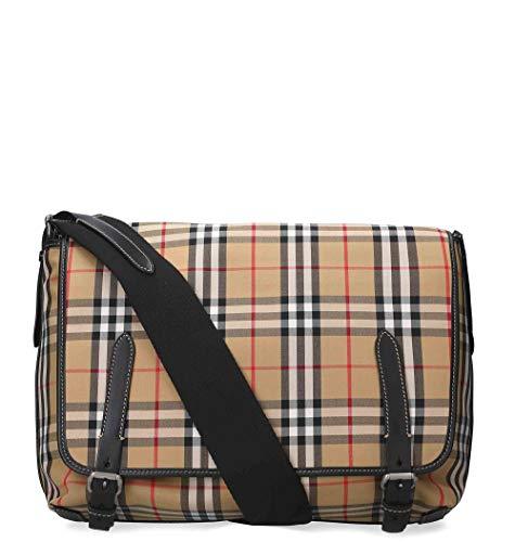 Burberry Men's 4074360 Beige Cotton Messenger Bag ()
