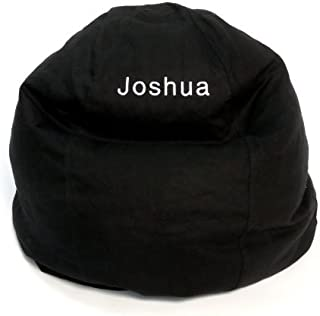product image for Bean Bag Chair Kid Size Personalized Embroidered Comfy Bean - Black
