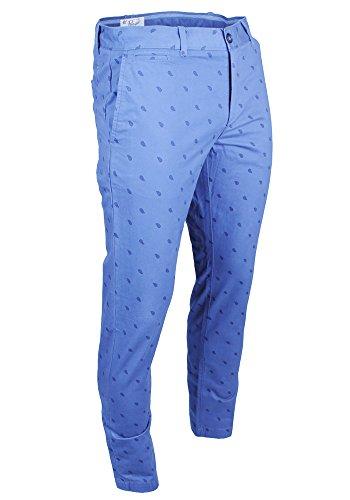 Original Penguin Mens Perfect Slim Fit Chino Paisley Pants Blue