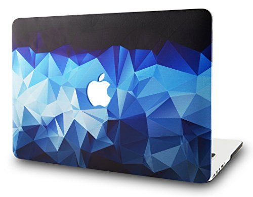 KEC Laptop Case for MacBook Pro 13 (2018/2017/2016) Plastic Hard Shell Cover A1989/A1706/A1708 Touch Bar (Blue Diamond)