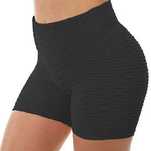 SNOWSONG Women's Sport Fitness Gym Stretchy High Waisted Ruched Butt Lifting Workout Running Yoga Shorts