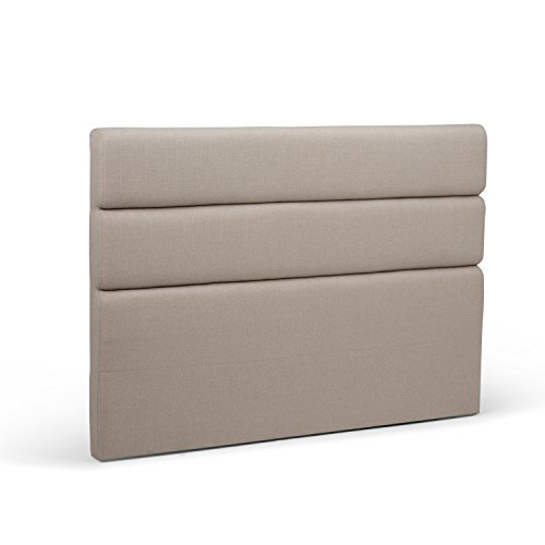 Simpli Home AXCHBR-04-CA Ciara Contemporary 64 inch wide Queen Tufted Headboard in Camel Linen Look Fabric