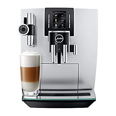 Jura 15150 J6 Automatic Coffee Machine, Brilliant Silver, Promotional Bundle.