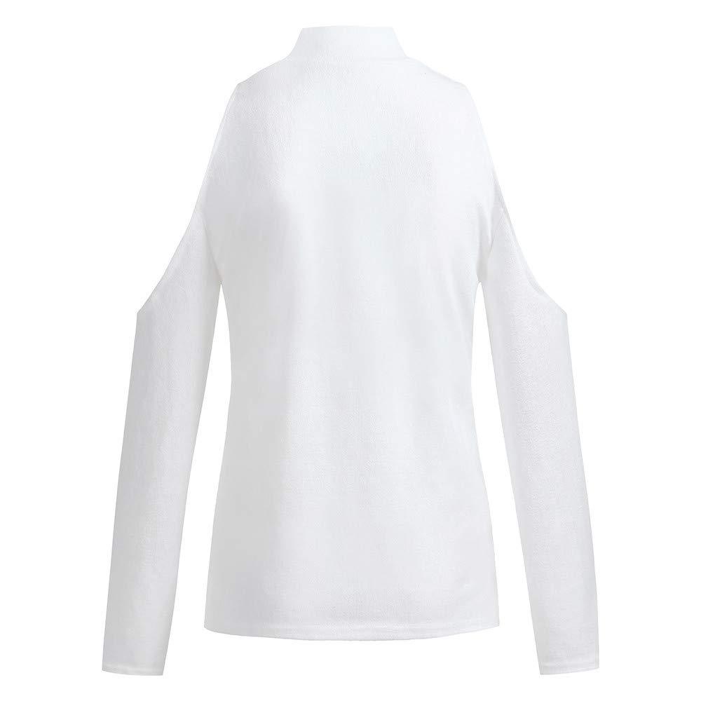 Blusen/Damen Sommer Elegant PANPANY Damen Langarm Gestreift Strick Lose Oversize Bluse Langshirt T-Shirt Hemd Oberteil Tops