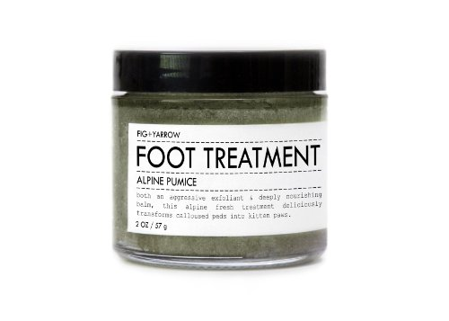 Фиг + тысячелистника Органические Alpine пемзы для ног Лечение - 2 унции