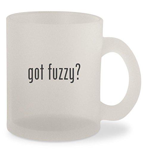 got fuzzy? - Frosted 10oz Glass Coffee Cup Mug
