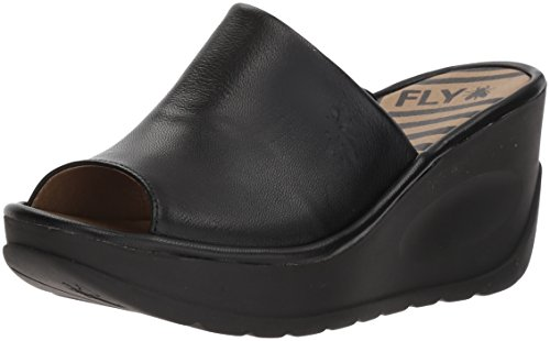 Jamb865fly Mules Black London Fly Noir Femme g7a54wq