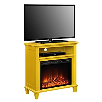 Ameriwood Home 5032496COM Ellington TV Stand, Yellow