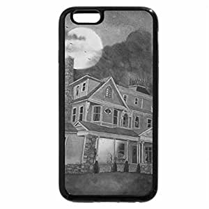 iPhone 6S Case, iPhone 6 Case (Black & White) - Spooky Old House