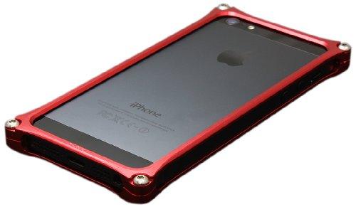 Aluminum Case Corresponding To Gilddesign Iphone5 Solid Bumper Red Gi 222R Japan Import