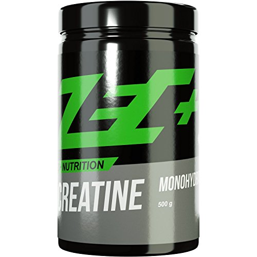 ZEC+ CREATIN Pulver MONOHYDRATE | reines Creatin Monohydrat für mehr Kraft | mehr Ausdauer | Muskelwachstum | Kraftschub | Geschmacksneutral | 500g Pulver