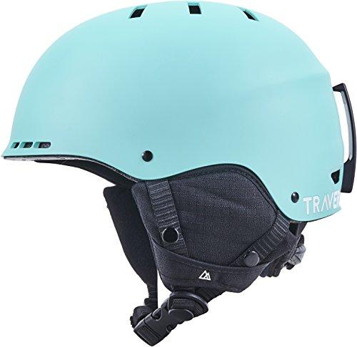 Traverse Vigilis 2-in-1 Convertible Ski & Snowboard / Bike & Skate Helmet with 10 vents, Matte Dew, Small/Medium (54-58cm)