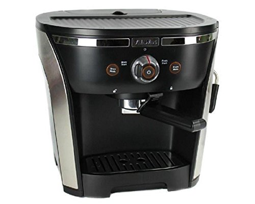 Villaware NDVLEM1000 New 15 Bar Pressure Home Espresso/Cappuchino Maker, 2, Black And Silver by Villaware
