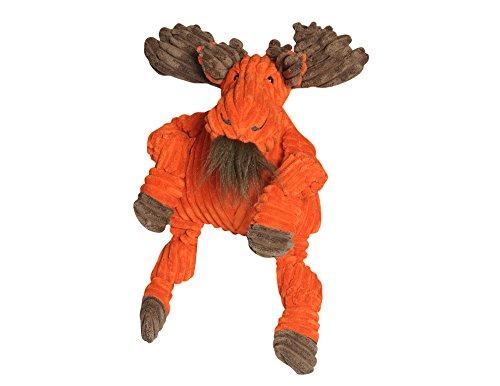 HuggleHounds Plush Corduroy Durable Knottie Moose Dog Toy, L