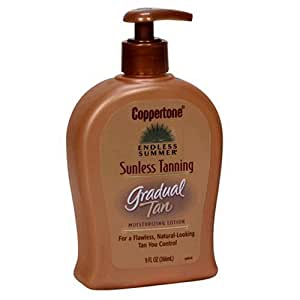 Coppertone Endless Summer Sunless Tanning Moisturizing Lotion, Gradual Tan, 9 fl oz (266 ml)