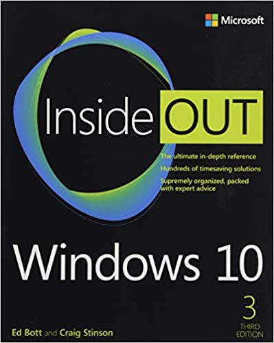 Windows 10 Inside Out 3rd Edition, cover