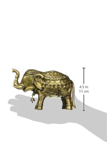 Skulpturen & Statuen Messingguss Aus Indien Tempelelefant Mit Glocke Kultobjekte & Sakrales