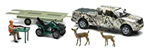 Wild Hunting Playset Camo Pick-Up Truck w/ ATV or Jon Boat on Trailer (Assorted)