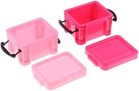 Amazon.es: non-brand Mini Caja de Almacenamiento Color Caramelo Decoración para Dollhouse 1: 6 - Rosado: Juguetes y juegos