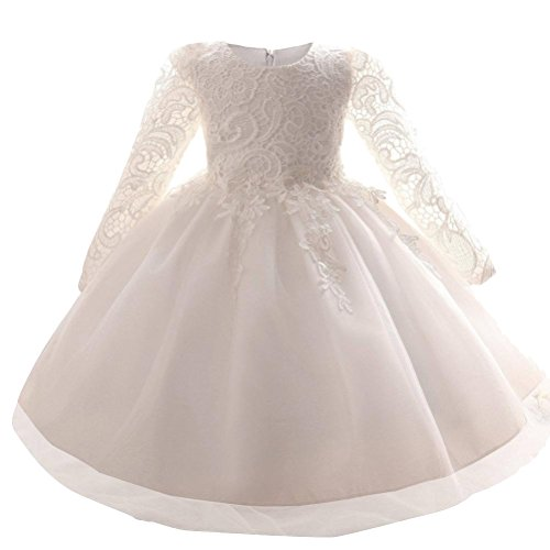 Mallimoda Girl's Lace Tulle Flower Princess Wedding Dress