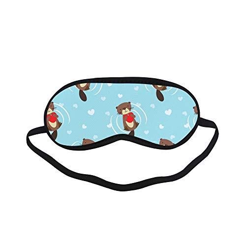 All Polyester Otter Animal Cute Sleeping Eye Masks&Blindfold by Simple Health with Elastic Strap&Headband for Adult Girls Kids and for Home Travel ()