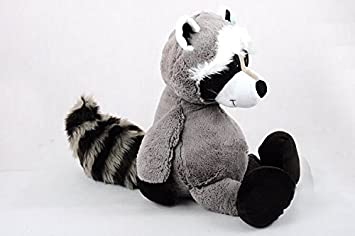 Amazon com : cute plush small raccoon toy lovely big tail