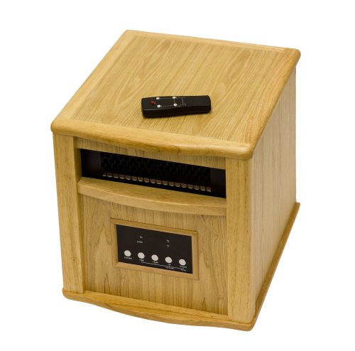 AZ Patio Heaters HLI-WI-0035OAK Indoor Space Heater with Remote, Oak (Az Patio Heaters Infrared compare prices)