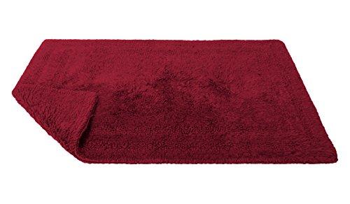 Home Source International grande reverso de algodón alfombra Aqua azul, rojo, (claret red), Large, 1