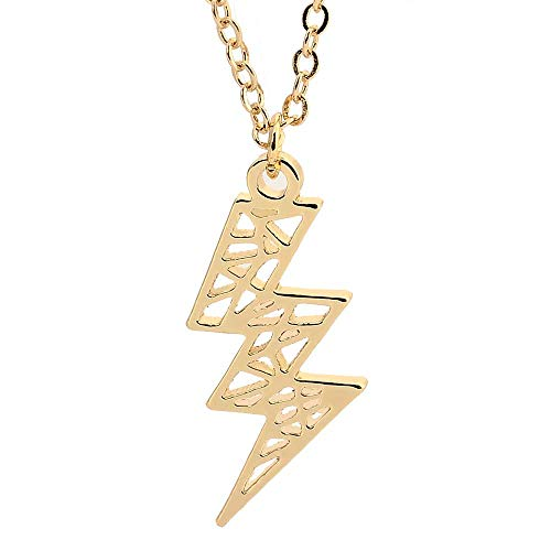 TUSHUO Lightning Hollow Pendant Flash Charms Necklace Jwewlry