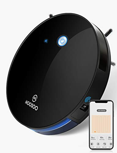 MOOSOO Robot Vacuum, Compatible with Alexa, Wi-Fi Connected, App Control, Smart Navigation, Self-Charging, Robotic Vacuum Cleaner for Hard Floors & Carpet