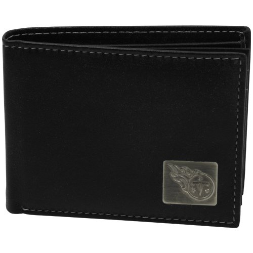 Bi Fold Exclusive Wallet - Tennessee Titans Leather Bifold Wallet With Metal Logo