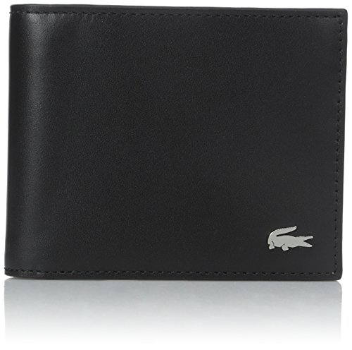 Lacoste Men's FG Small Billfold ID Slot, Black, One Size