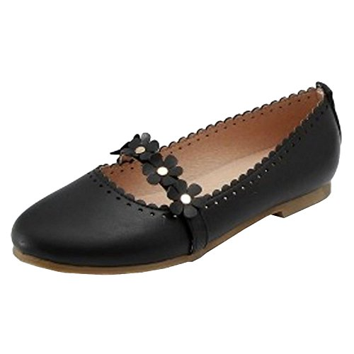 57 Sweet Women Black Flats Pumps Coolcept OXqxS7n