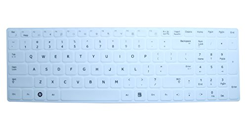 CaseBuy Ultra Thin Soft Silicone Gel Keyboard Skin Protector Cover for Samsung R580, R590, RC510, QX530, SF510, RF510, RF511, RV520, RV511, RV515 US Layout with Retail Packaging - Please DOUBLE CHECK Your Model (White) (Samsung R580 Keyboard compare prices)