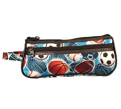 Soccer Basketball Football Baseball Case - Sport Pencil Holder Pouch Pencilcase Gift Idea
