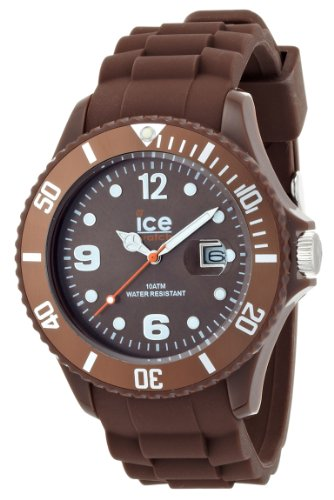 Ice Chocolate Brown Dial Silicone Strap Men's Watch ()